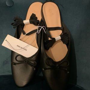 Black Lace-up Ballet Flats - NWT